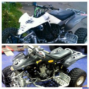 YFZ450 Before (top) & After (Bottom)